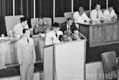 SUKARNO GIVING SPEECH